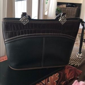 Brighton Purse Black/ Brown trim